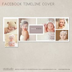 Facebook timeline cover template photo collage photos by OtoStudio, $7.00