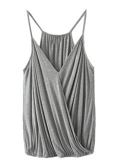 Grey surplice cami top.