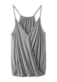grey surplice cami top