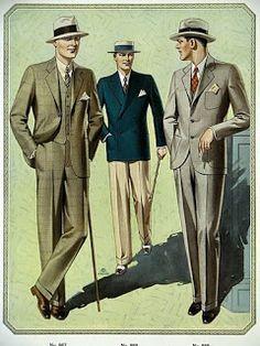 Amusing Muse's Musings: 1928 MEN'S FASHION ILLUSTRATION #6 * Large Full Co...