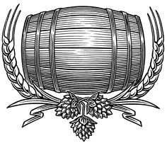 A little while ago, I found myself sketching quite a few images, trying to capture the ideal beer barrel illustration for my client. I was contacted by Jared Richardson, who was heading up a design… Engraving Illustration, Graphic Illustration, Glass Etching Stencils, Beer Art, Home Brewing Beer, Scratchboard, Beer Label, Pyrography, Art Logo