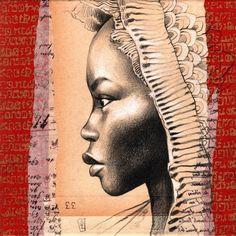Drawing Portraits - Stéphanie Ledoux - Carnets de voyage: 111 des Arts 2015 Discover The Secrets Of Drawing Realistic Pencil Portraits.Let Me Show You How You Too Can Draw Realistic Pencil Portraits With My Truly Step-by-Step Guide. Portrait Au Crayon, Pencil Portrait, Pencil Drawings, Art Drawings, Drawing Portraits, Horse Drawings, Drawing Art, Pencil Art, African Art Paintings