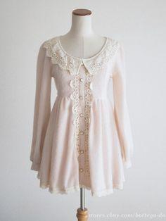 LIZ LISA Fluffy Pink OP Dress Lace Hime Gyaru Lolita Kawaii Size0 Japan #LizLisa #PeplumTunic #Party
