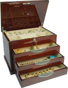 Bethany - Luxury Jewellery Chest in Piano Finish