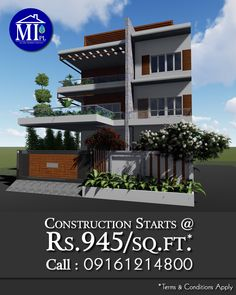 Are You planning for the construction of your Residential Building? We are here to help you with innovative sustainable designs and build ideas. Our Construction Packages start at Rs. 945.0/sq.ft. (Terms  Conditions apply) and come with Five Years of Water-Proofing and Anti-Termite Warranty. If you want to go for new construction or even the renovation for your Residence, call one of the best Sustainable Building Designers in your neighbourhood. Call us.
