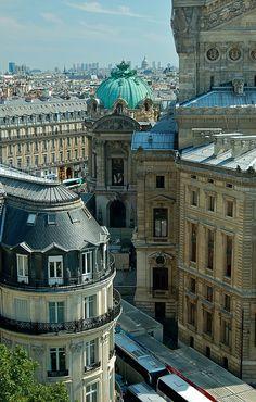 Roof Top of Paris, France