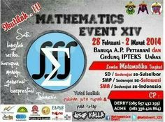 Flyer Mathematics Event XIV by Mathematics Students Society of the Hasanuddin University, Indonesia.