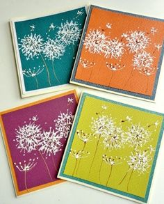 Painted Dandelion Art Greeting Cards Blank Inside by stephanieh02, $16.00