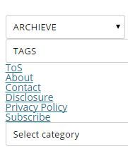 How to build Categories, Archives and Tags in a Drop down menu without a plugin for Twenty Twelve Theme in WordPress