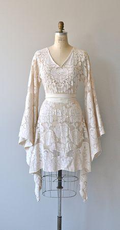 Bohemian Lace wedding dress lace 1970s dress by DearGolden