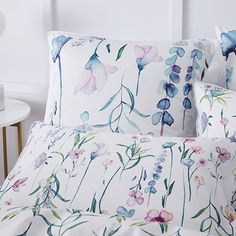 Wild Flower Quilt Cover Set White