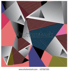 Abstract modern triangles background pattern illustration. Space layout and…