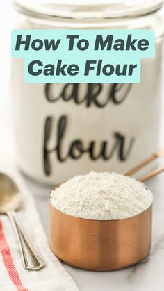 Homemade Dry Mixes, Homemade Cakes, Cake Flour Recipe, Just Desserts, Dessert Recipes, Baking Tips, Baking Hacks, Food Substitutions, Nutrition