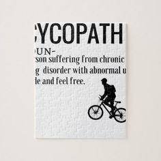 Bike surf poster products funny cycopath noun design dictionary definition jigsaw puzzle fandeluxe Images
