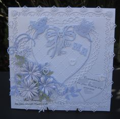 Wedding Card. Lilac/white.