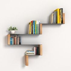 cool bookshelf / wall shelving