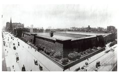 Vintage 1899, overhead view of the Croton Reservoir, at the corner of Fifth Avenue and 42nd street, NYC, www.RevWill.com
