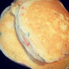 Cake batter protein pancakes: in a bowl, combine 1 scoop @Cellucor cor-fetti protein, 1 egg whites, 1 tsp vanilla extract, 1/8 cup almond flour, and 1/4 cup unsweetened almond milk. Cook on medium heat. Flip when bubble appear. Yields 4. Top with sugar free syrup or agave nectar. Macros: 195 calories, 3f/13c/30p.