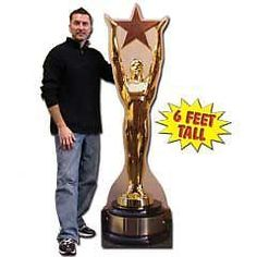 Hollywood Award Cardboard Stand Up Cut Out #WindyCityNovelties