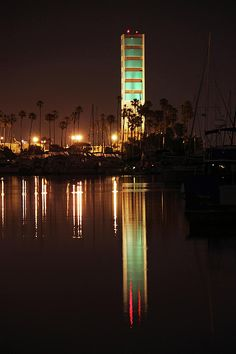 Long Beach California at Night, The oil islands, you know your in long Beach.