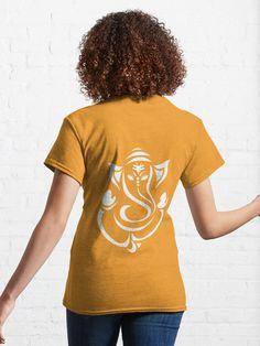 """GANESHA - HINDU GOD GANESH "" T-shirt by Trisha2k   Redbubble Indian Gods, Ganesha, Chiffon Tops, Classic T Shirts, Religion, T Shirts For Women, Fashion, Moda, La Mode"