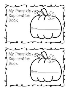 FREE Pumpkin Exploration Book