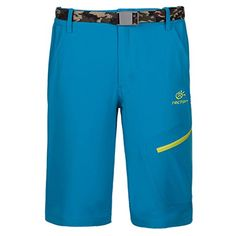 Camping Hiking : Men's Clothings :TECTOP Mens Dri-Fit Sport Tempo Shorts Stretch Pocketed Zipper Pants Blue * Trust me, this is great! Click the image.
