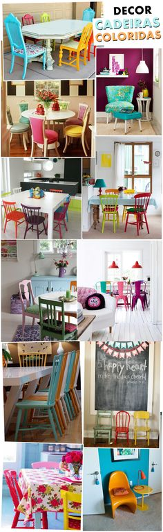 Third from the top on the right Diy Furniture Projects, Cool Furniture, Arch Interior, Interior Design, Deco Cafe, Colorful Decor, House Colors, Boho Decor, Third
