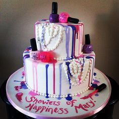nail polish birthday cake