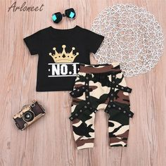 Strong-Willed Arloneet Clothes Baby Boys Letter T Shirt Solid Shorts Funny Kids Tops Beach Shirt For Boys 2pcs 2019 Summer Toddle Boy Outfits Mother & Kids