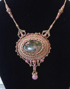 Made by Kiowa Rose Beads Kiowarose.com or kiowarosebeads.etsy.com  Matching Unakite Necklace