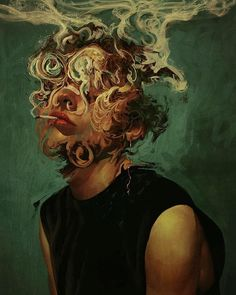 Illustration Art By Aykut Aydoğdu Aykut Aydoğdu, Turkey is an artist born in 1986 in Ankara. Aydoğdu, who has worked on art in both his high school years Art Romantique, Art Et Design, Arte Obscura, Arte Sketchbook, A Level Art, Ap Art, Fine Art, Surreal Art, Aesthetic Art