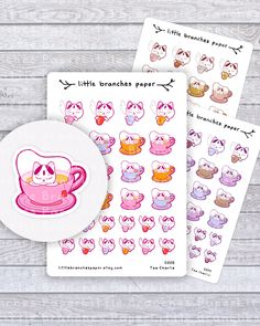 Excited to share the latest addition to my shop: Tea Planner Stickers, Charlie the Cat Journal Sticker Set for Tea Lovers - Hand Sticker, Sticker Paper, Journal Stickers, Planner Stickers, Little Kitty, Travelers Notebook, Cute Stickers, Card Making, Stationery