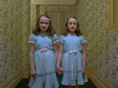 """The most horrible twins in Stanley Kubrick´s """"Shining""""."""