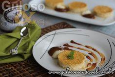 Este Pudim Sem Leite Condensado é levinho! É delicioso acompanhado de doce de leite e cream cheese. Quem vai fazer hoje?  #Receita aqui: http://www.gulosoesaudavel.com.br/2014/05/30/pudim-sem-leite-condensado/