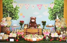 how to decorate for an indoor teddy bear picnic - Google Search