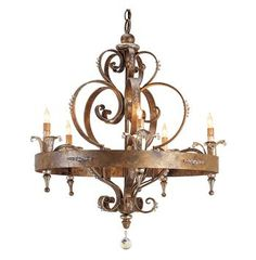 Buy the Currey and Company 9526 Rhine Gold Direct. Shop for the Currey and Company 9526 Rhine Gold Salzburg 5 Light Wide Single Tier Wrought Iron Chandelier and save. Chandelier Lamp, Residential Lighting, French Country Chandelier, French Country Bedrooms, Wrought Iron Chandeliers, Lights, Chandelier Design, Country Chandelier, Chandelier Lighting