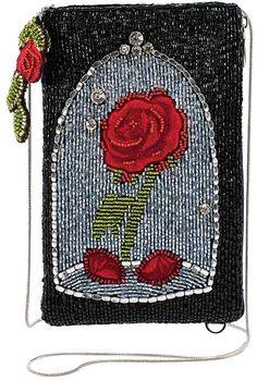 Mary Frances Disney Beauty and the Beast Rose Crossbody Handbag Purse, Black Disney Enchanted, Enchanted Rose, Junior Homecoming Dresses, Disney Renaissance, Mary Frances, Disney Cosplay, Disney Beauty And The Beast, Purse Styles, Disney Style