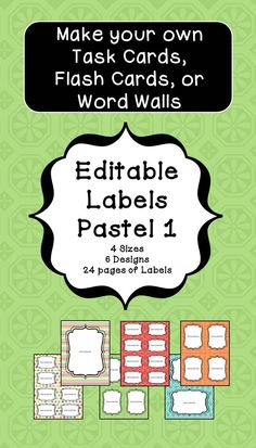 Editable Name Tags And Desk Plates In Black And White Math