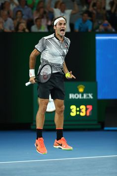 Las mejores fotos del triunfo de Roger Federer sobre Rafael Nadal en Australia