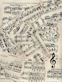 Vintage Sheet Music with a Flute Fleece Blanket - home gifts ideas decor special unique custom individual customized individualized Sheet Music Art, Music Paper, Vintage Sheet Music, Vintage Sheets, Music Sheets, Piano Sheet, Papel Vintage, Vintage Diy, Vintage Paper