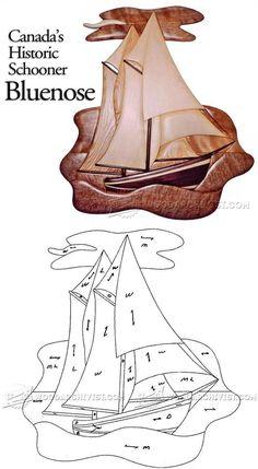 Schooner Bluenose - Intarsia Projects, Tips and Techniques | WoodArchivist.com