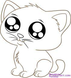 122 Best Cat Cartoon Drawing Images Cute Kittens Fluffy Animals