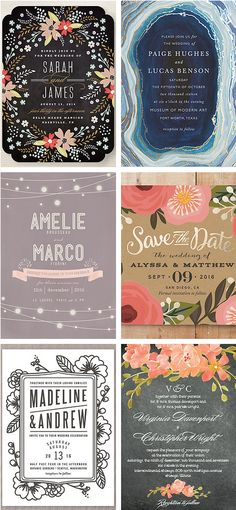 Gorgeous stationery suites for weddings and parties!