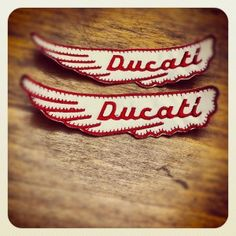 vintage #DUCATI wings logo patches
