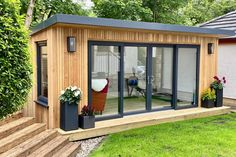 Gallery | Insulated Garden Rooms | Outside In Backyard Office, Backyard Sheds, Garden Office, Backyard Gazebo, Studio Shed, Garden Studio, Backyard Studio, Cabin House Plans, Tiny House Cabin