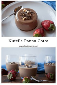 Nutella Panna Cotta is not a difficult dessert. But it is a delicious and impressive dessert. This is will be your go-to dessert for every occasion. Impressive Desserts, Fancy Desserts, Just Desserts, Gourmet Recipes, Sweet Recipes, Baking Recipes, Gourmet Foods, Recipes, Italian Foods