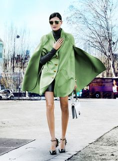Facing The Wind #GiovannaBattaglia #PFWFW14 #Louis Vuitton