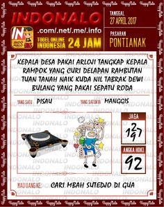 Syair Kuat 2D Togel Wap Online Indonalo Pontianak 27 April 2017