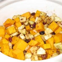 Savory Slow Cooker Squash and Apple Dish Allrecipes.com